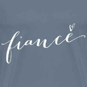 Fiance with heart graphic - Men's Premium T-Shirt