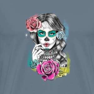 aaliyah day of the dead - Men's Premium T-Shirt