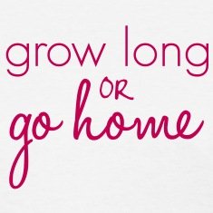 Grow Long Go Home Length Check T-Shirt