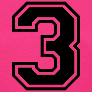 Number 3 Three T-Shirts - Women's T-Shirt