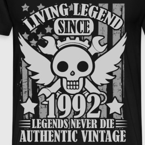living 1992 1a.png T-Shirts - Men's Premium T-Shirt