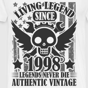 living 1998 232as.png T-Shirts - Men's Premium T-Shirt