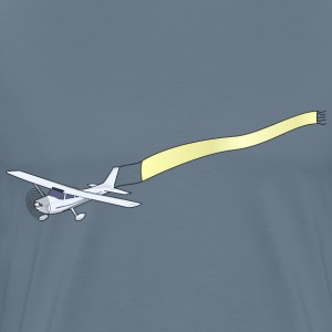 Airplane with Banner - Men's Premium T-Shirt