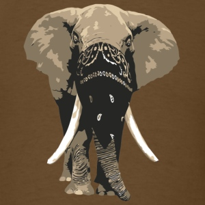 elephant wearing bandana T-Shirts - Men's T-Shirt