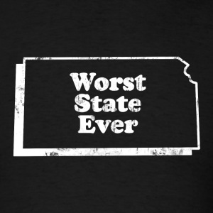 KANSAS - WORST STATE EVER T-Shirts - Men's T-Shirt