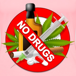 AntiDrugs Sign - Women's Premium T-Shirt
