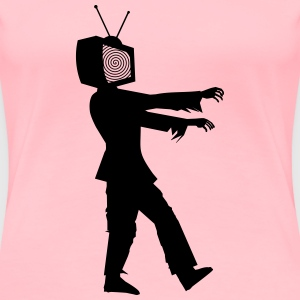 Zombie with TV head - Women's Premium T-Shirt