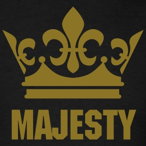 Golden Crown King Queen Majesty Your Text Tee - Men's T-Shirt