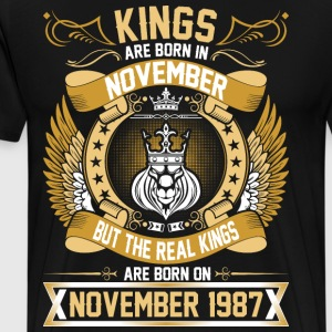 The Real Kings Are Born On November 1987 T-Shirts - Men's Premium T-Shirt
