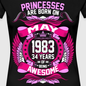 Princesses Are Born On May 1983 34 Years T-Shirts - Women's Premium T-Shirt