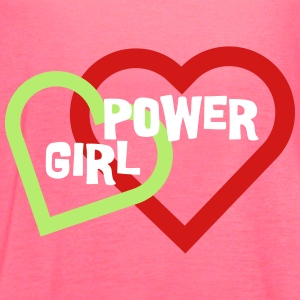 Girl Power Love & Hearts - Women's Flowy Tank Top by Bella