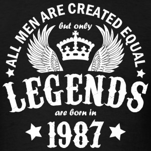 Legends are Born in 1987 - Men's T-Shirt