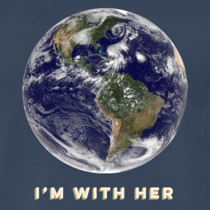 I'm With Her - Earth - T-Shirt - Men's Premium T-Shirt