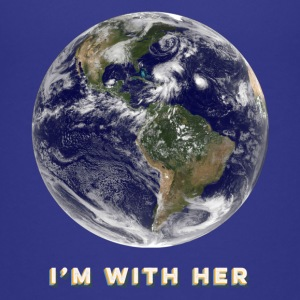 I'm With Her - Earth - Kids T-Shirt - Kids' Premium T-Shirt