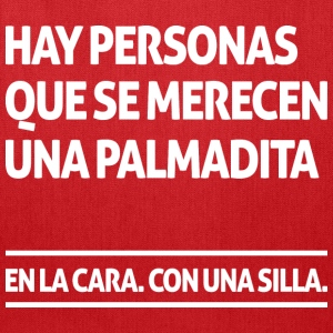 Hay personas que se merecen una palmadita (dark) Bags & backpacks - Tote Bag