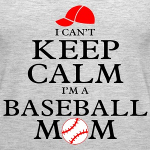 Keep Calm Baseball Mom Tanks - Women's Premium Tank Top