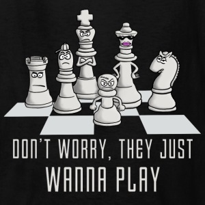 chess_they_just_wanna_play_04_2017 Kids' Shirts - Kids' T-Shirt