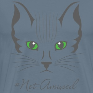#Not amused cat art - Men's Premium T-Shirt