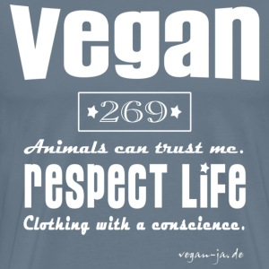 Vegan - respect life - Men's Premium T-Shirt