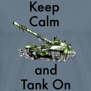 Keep calm and tank on - Men's Premium T-Shirt
