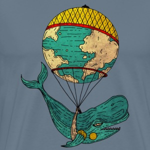 Whale going around the world - Men's Premium T-Shirt