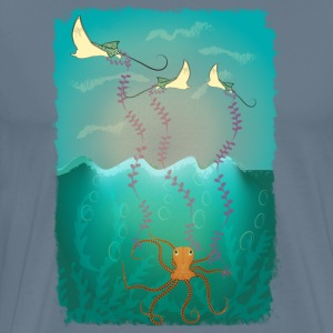 Octopus flying sting ray kite - Men's Premium T-Shirt