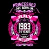 Princesses Are Born On July 1983 34 Years T-Shirts - Women's Premium T-Shirt