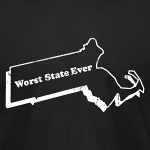 MASSACHUSETTS - WORST STATE EVER T-Shirts - Men's T-Shirt by American Apparel
