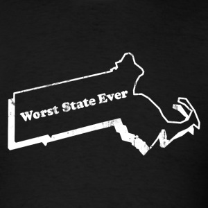 MASSACHUSETTS - WORST STATE EVER T-Shirts - Men's T-Shirt