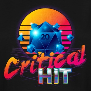 TALL Critical Hit Dungeons & Dragons d20 - Men's Tall T-Shirt