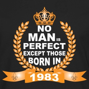 No Man is Perfect Except Those Born in 1983 Long Sleeve Shirts - Men's Premium Long Sleeve T-Shirt