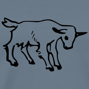 Goat Outline 3 - Men's Premium T-Shirt
