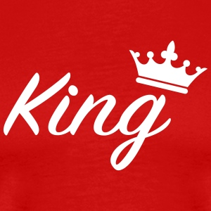 King with crown /Couples T-Shirts - Men's Premium T-Shirt