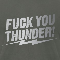 fuck you thunder bolt – silver T-Shirts