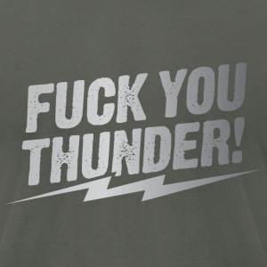 fuck you thunder bolt – silver T-Shirts - Men's T-Shirt by American Apparel