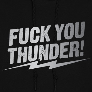 fuck you thunder bolt – silver Hoodies - Women's Hoodie