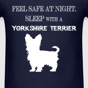 Yorkshire terrier - Feel  Safe At Night. Sleep Wit - Men's T-Shirt