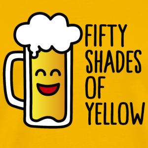 Fifty shades of yellow T-Shirts - Men's Premium T-Shirt