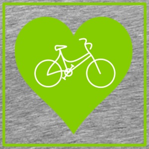 Women's cycling heart - Men's Premium T-Shirt