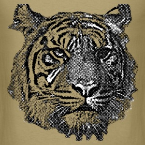 Tiger (black and white) T-Shirts - Men's T-Shirt