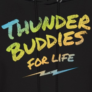 thunder buddies for life – multicolour Hoodies - Men's Hoodie