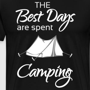 The Best Days are Spent Camping Adventure T-Shirt T-Shirts - Men's Premium T-Shirt