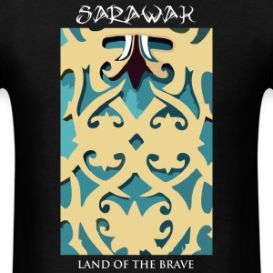Sarawak Iban Engraving Black Mens T Shirt - Men's T-Shirt