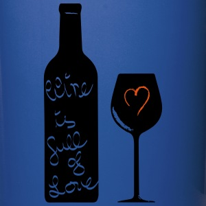 Wine is full of Love 2c Mugs & Drinkware - Full Color Mug