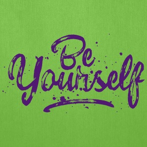Be Yourself - fancy lettering Bags & backpacks - Tote Bag