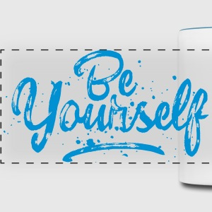 Be Yourself - fancy lettering Mugs & Drinkware - Panoramic Mug