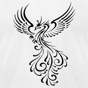 Phoenix Tribal - Men's T-Shirt by American Apparel