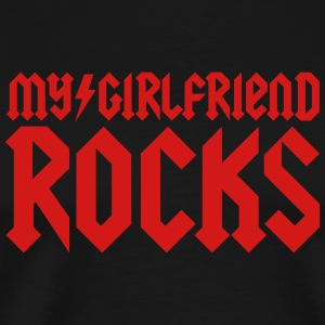 My girlfriend rocks T-Shirts - Men's Premium T-Shirt