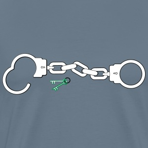 Handcuffs and Keys - Men's Premium T-Shirt