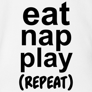 Eat nap play (repeat) Baby Bodysuits - Short Sleeve Baby Bodysuit
